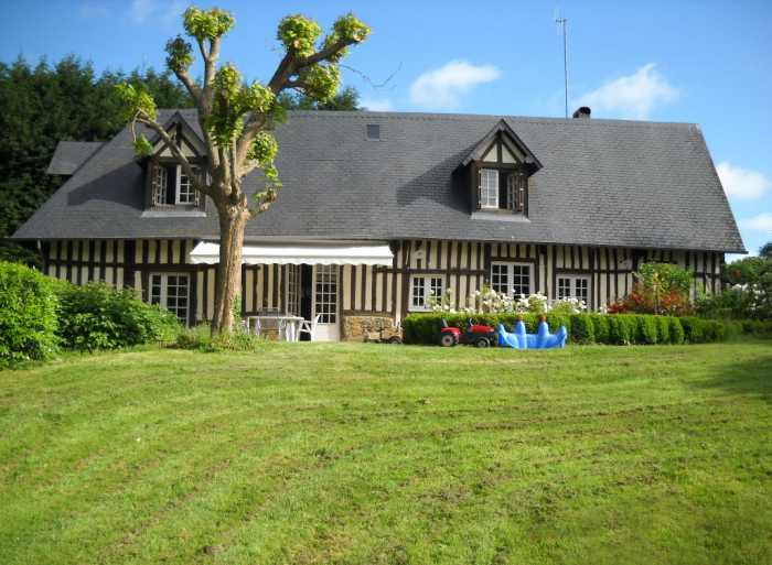 PRICE DROP • AHIN-PS-0021 • Deauville Area • 3 Bedroomed Colombage House with detached 2 Bedroomed Gite on 4,500m2 (1 acre+) of land