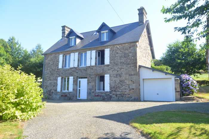 UNDER OFFER AHIN-SIF-001207 Nr Sourdeval 50150 Superb detached stone house with spacious accommodation over 3 floors with barn, car port and heated swimming pool. 5560m2