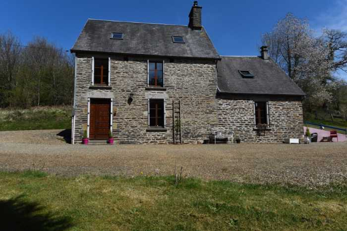AHIN-SP-001408 Nr Ger 61800 Stone 3 bedroom house with large barns, nearly 4 acres and no neighbours