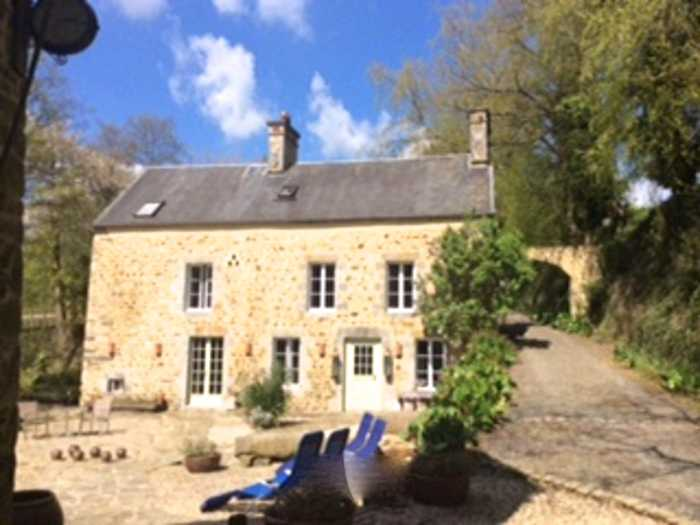 AHIN-KR-1745 Coutances 4 Cottages with Fishing Lake and stream on 3.5 hectares